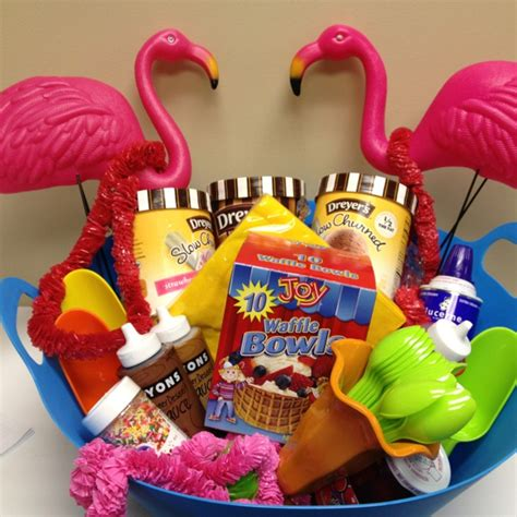 summer party gift basket show your smile pinterest