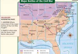 civil war battles in map defcon 1 unit 3 a house divided