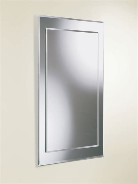 800mm bathroom mirror hib lucy rectangular bevelled mirror on mirror 400 x 800mm