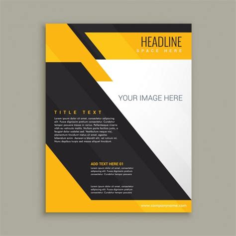 yellow business brochure template with geometric shapes elegant business brochure with yellow and black shapes