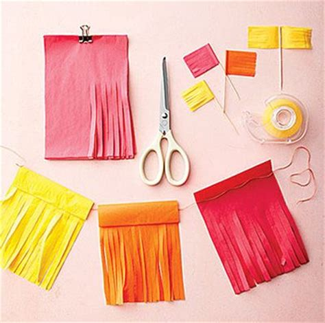 How To Make Decoration Out Of Tissue Paper - tissue paper decorations windows instead of curtains