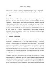Critique Exle Essay by Journal Article Critique