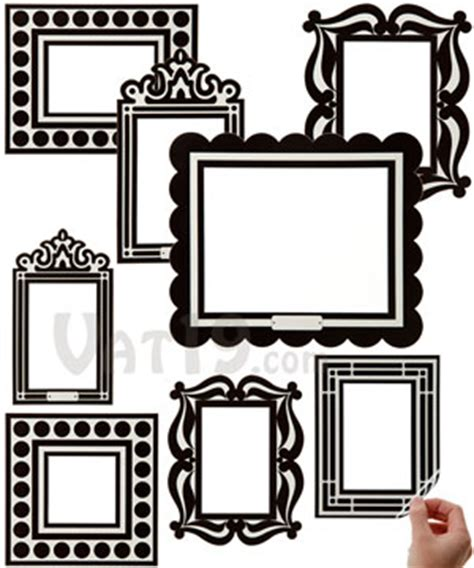 wall stickers frames stick r frames removable and reusable sticker picture frames