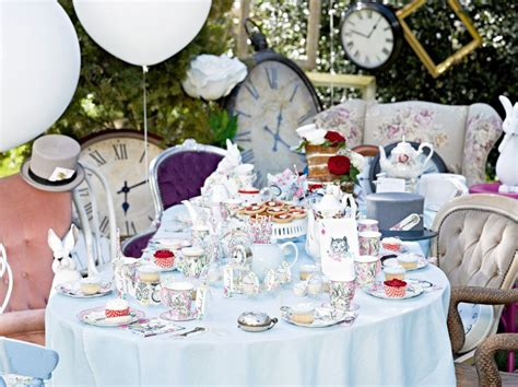 Alice in Wonderland Theme Party Ideas for a Mad Hatter's Tea Party