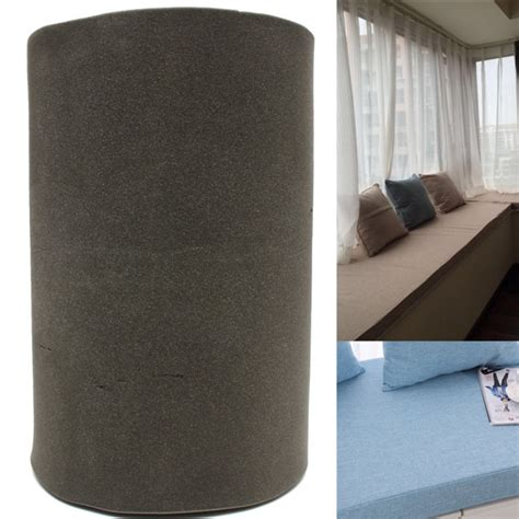 foam rubber sofa replacement seat cushion 200x60x5cm black high density seat foam rubber replacement