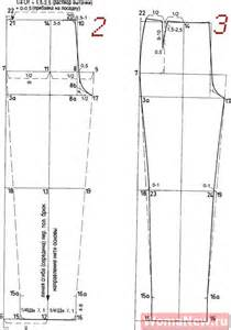 брюки выкройка построение бурда