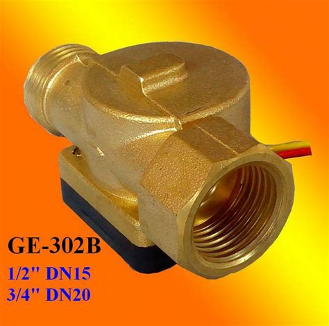 Water Flow Sensor 1 2 Brass Copper Waterflow ge 302 brass water flow rate sensor 2 accuracy from a yite technology corp b2b marketplace