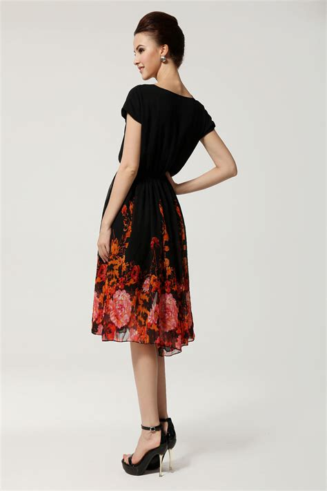 s casual vintage chiffon formal retro dress skirt q348 ebay