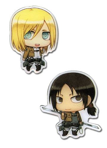 Tv Akari Magneto attack on titan christa ymir metal pins accessories