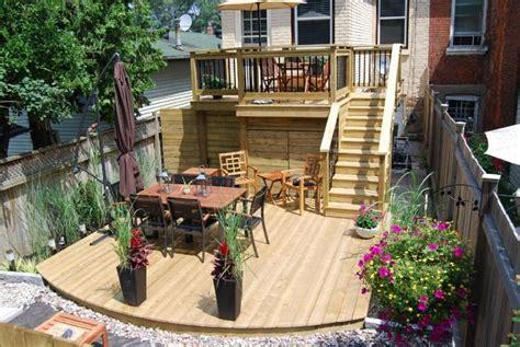 two tier deck backyard ideas home building