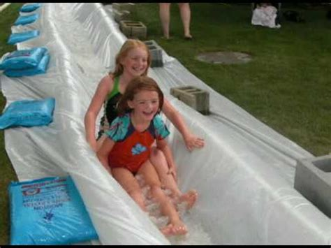 How To Build A Water Slide In Your Backyard by Trash Water Slide