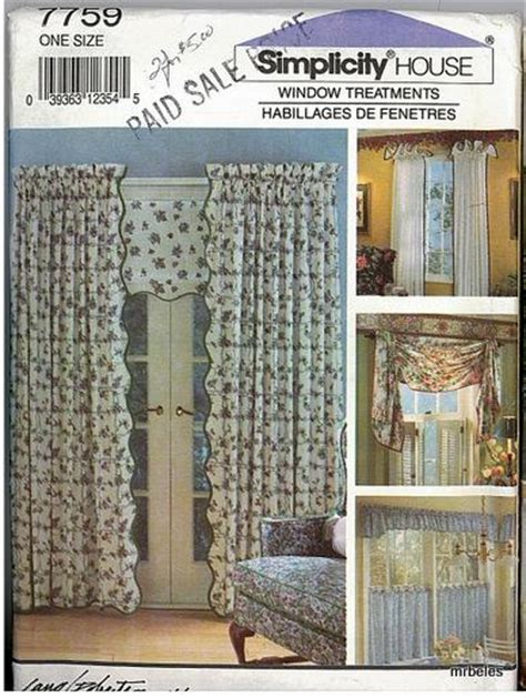 simplicity patterns curtains simplicity window treatment covering home d 233 cor curtains