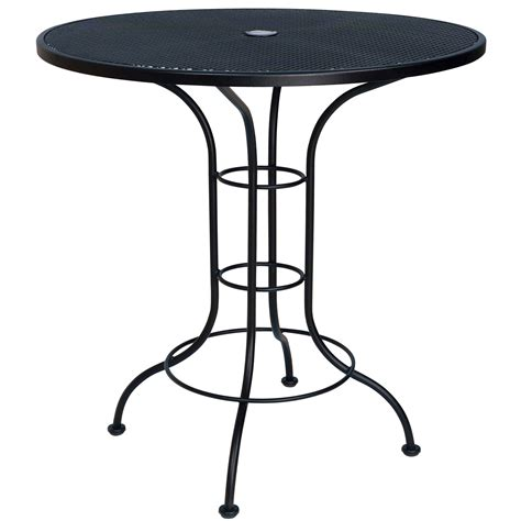 Outdoor Bistro Table Pictured Is The 36 Quot Counter Height Outdoor Bistro Table With Mesh Top From Woodard Outdoor