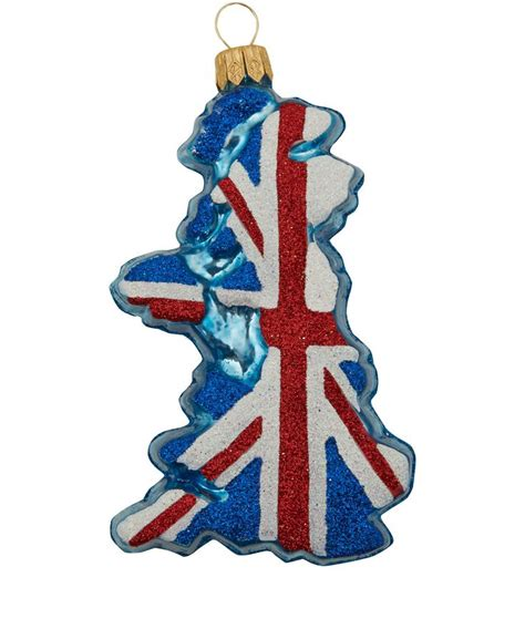 union jack map tree decoration festive decorations from