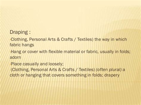 meaning of draped draping