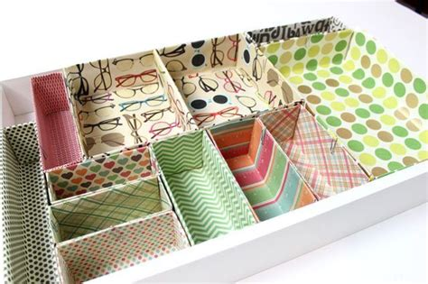 Create Your Own Cardboard Box Desk Drawer Organizers Diy Make Your Own Desk Organizer