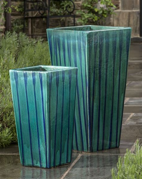 Blue Outdoor Planters 17 Best Images About Glazed And Ceramic Planters And