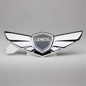 Hyundai Wing Badge Hyundai Genesis Sedan Wing Emblem Koreatrends