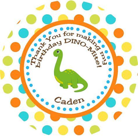 printable dinosaur gift tags items similar to dinosaur thank you favor gift tags