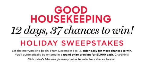 Good Housekeeping Sweepstakes - good housekeeping s 12 days gift guide sweepstakes