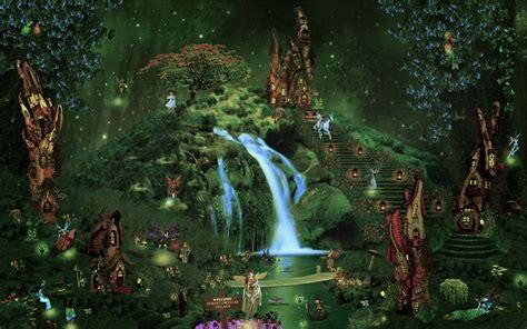 fall fairy garden backgrounds castle city forest