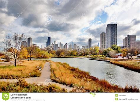 where is lincoln park located chicago autumn view stock image image of autumn building