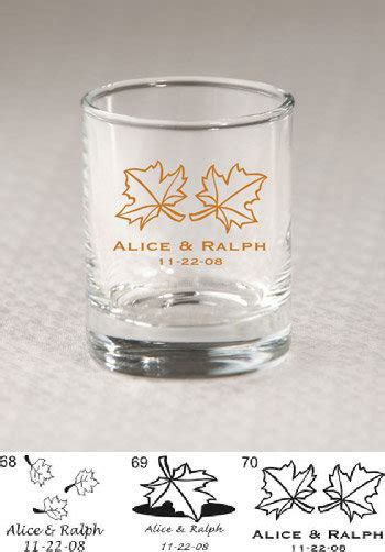 wedding favors at nice prices personalized fall shot glass votive favors 3 5 oz nice