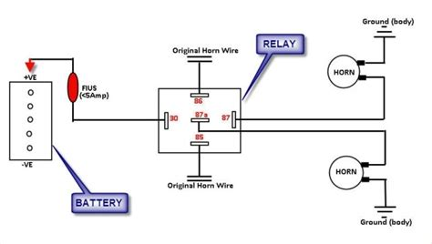 horn relay diagram wiring wiring diagram and schematic