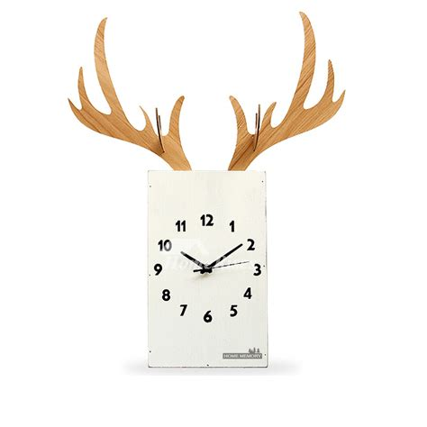 Hanging Wall Clock White 1 wooden wall clock hanging antler twig decorative living