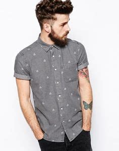 Levis Sleeve Grey Triangle Batik river island sleeve shirt in color block style