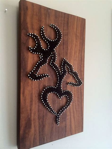 hunting home decor rustic hunting string art home decor deer browning and
