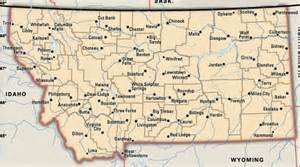 Map Of Western Montana by Map Of Montana Cities And Towns