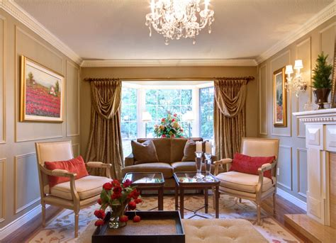 Traditional Window Treatments Living Room by Bay Window Treatments Living Room With