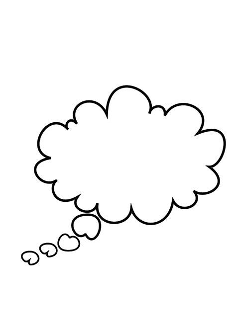 Thinking Outline by Thought Outline Clipart Best