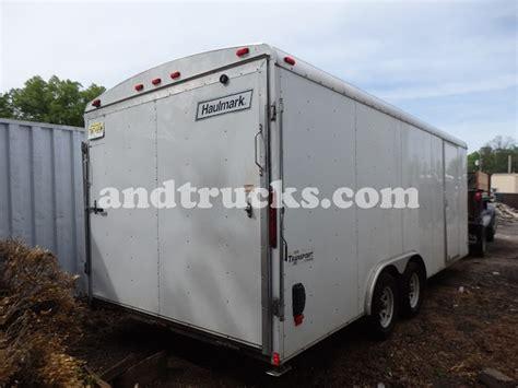 used 20ft enclosed landscape trailer haulmark for sale