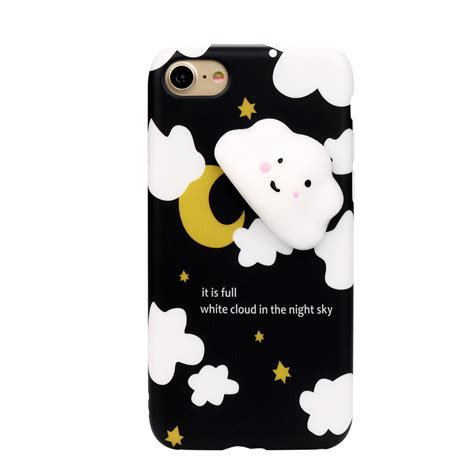Silicon 3d Cover Soft Tpu Squishy Cat Seal Iphone 7g 3d animal cat panda seal soft tpu gel cover for