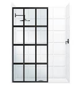 window pane shower door gridscape 174 series coastal shower doors