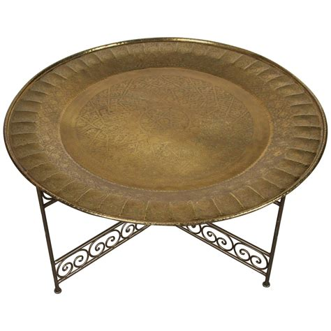 brass tray base moroccan round brass tray on iron base arts and