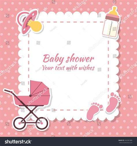 Text For Baby Shower Card by Baby Shower Invitation Card Place Stock Vector