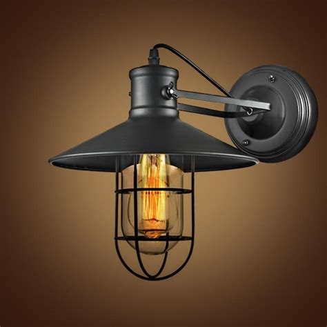 Unique Wall Sconces Lighting Buy Cheap Retro Iron Wall Lamp Wrought Industrial Loft
