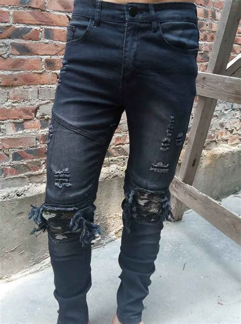 Overall Ripped 1 2017 new arrival cosmama brand mens fashion slim overall denim biker ripped knee