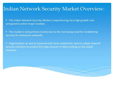 Mba In Network Security In India by Network Security Market In India