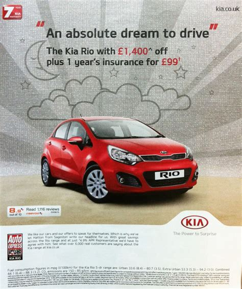 Kia Advert Reevoo Ratings On A Kia Ad Published In The Guardian