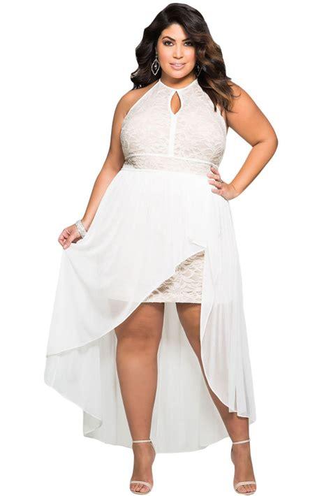 Dress Maleeka All Size 2017 stylish lace special occasion plus size dress big size xxxl lc61037 summer style white