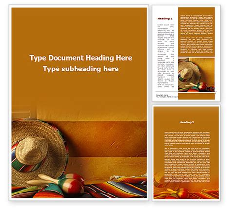 tour to mexico word template 09608 poweredtemplate com