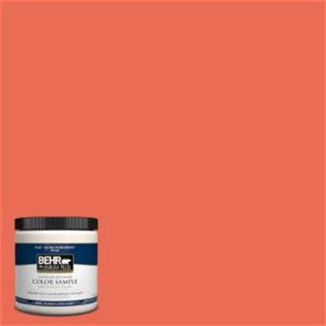 behr premium plus 8 oz 190b 6 coral interior exterior paint sle 190b 6pp the home depot