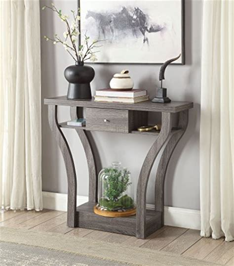 grey sofa table price tracking for weathered grey finish curved console