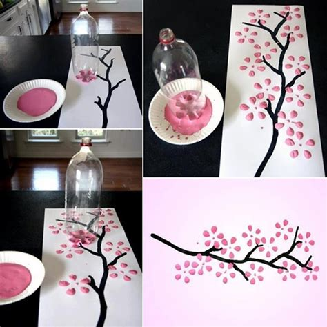 Handmade Creative Things - beautiful painting done with a bottle
