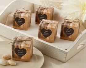 Rustic wedding favor boxes rustic themed wedding favors by kate