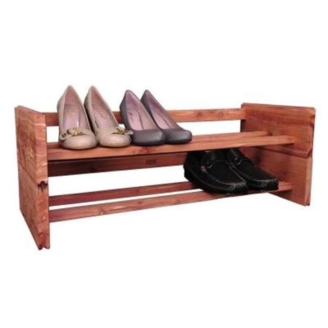 Home Depot Shoe Rack by 2 Tier Aromatic Cedar Shoe Rack A122 The Home Depot